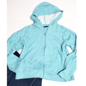 blue oleg cassini sport zip up hoodie jacket